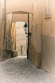 Street in old Prague (Czech Republic) — Stock Photo
