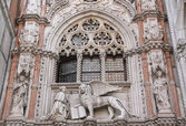 Close up of Doge Palace (Venice, Italy) — Stok fotoğraf