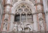 Close up of Doge Palace (Venice, Italy) — Stok fotoğraf