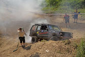 Recovering of a off road car  — ストック写真