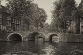 Vintage photo of Amsterdam (Netherlands) — Foto Stock