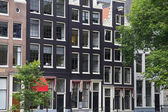 The narrow houses in Amsterdam — Stock Photo