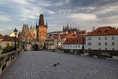 Charles Bridge in the early morning (Prague) — Stock Photo
