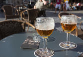 Two glasses of bier — Stock Photo