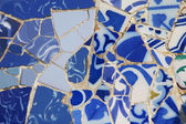 The mosaic of pieces of porcelain — Stock Photo