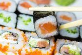 Closeup of maki sushi — Stock Photo