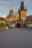 Charles Bridge in the early morning — Stock Photo