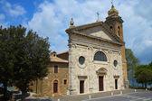 Famosa igreja em montalcino (toscana, itália) — Foto Stock