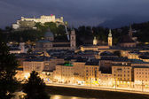 Salzburg in the night — Foto Stock