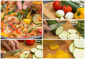 Collage of cooking Ratatouille — Stock Photo