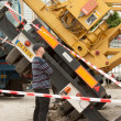 Stock Photo: Collapsed mobile tower crane (Holland)