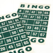 Green bingo cards isolated — Zdjęcie stockowe