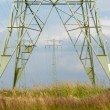 Stock Photo: Power Transmission towers