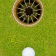 Stock Photo: Hole in One - ALMOST!