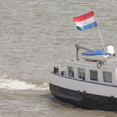 The Dutch national flag on a ship — Stock Photo