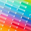 Stock Photo: Vector colour card (paper) with various colors