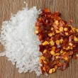 Heap of salt and chili - Stock Photo