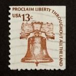 USA - CIRCA 1975: Stamp printed in the USA — Stock Photo