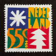 HOLLAND - CIRCA 1980: Stamp printed in the Netherlands — Stock Photo #12500794