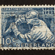 HOLLAND - CIRCA 1950: Stamp printed in the Netherlands - Стоковая фотография
