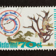 HOLLAND - CIRC1980: Stamp printed in Netherlands — Stock Photo #12500982