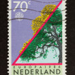 HOLLAND - CIRCA 1980: Stamp printed in the Netherlands - Стоковая фотография