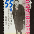 HOLLAND - CIRCA 1980: Stamp printed in the Netherlands - Stock Photo