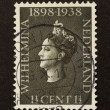 HOLLAND - CIRC1950: Stamp printed in Netherlands — Stock fotografie #12501044