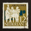 HOLLAND - CIRCA 1960: Stamp printed in the Netherlands — Stock Photo