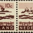 Stock Photo: HOLLAND - CIRC1950: Stamp printed in Netherlands