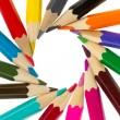 Many different color pencils — Foto Stock