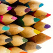 Collection of multicolored pencils — Stock Photo