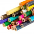 Collection of multicolored pencils — Stock Photo #12501834