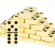 Stacks of dominoes — Stock fotografie