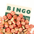 Royalty-Free Stock Photo: Wooden numbers used for bingo