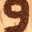 Number from coffee beans — Stock Photo #12502072