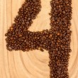 Number from coffee beans — Stock Photo #12502089
