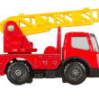 Stock Photo: Very old toy car (1970), firetruck