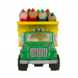 Very ol toy car (1970) with color pencils — Stock Photo