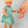Very old baby doll (1940s) — Stock Photo