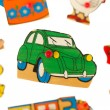 Piece of an antique wooden puzzle for children — Stock Photo #12502649