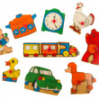 Stockfoto: Piece of antique wooden puzzle for children