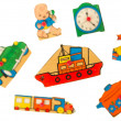 Stock Photo: Piece of antique wooden puzzle for children