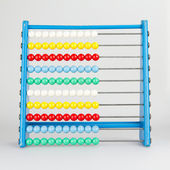 Close-up of an abacus on a white background — Stock Photo