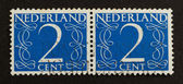 THE NETHERLANDS - CIRCA 1950: Stamps printed in the Netherlands — 图库照片