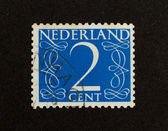 THE NETHERLANDS - CIRCA 1950: Stamp printed in the Netherlands — Stock Photo