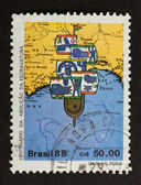 BRASIL - CIRCA 1980: Stamp printed in the Brasil — Stock Photo