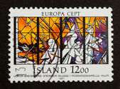 ICELAND - 1987: Stamp printed in Iceland — Foto de Stock