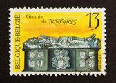 BELGIUM - CIRCA 1980: Stamp printed in Belgium — Stock Photo