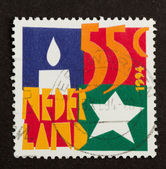 HOLLAND - CIRCA 1980: Stamp printed in the Netherlands — Stock Photo